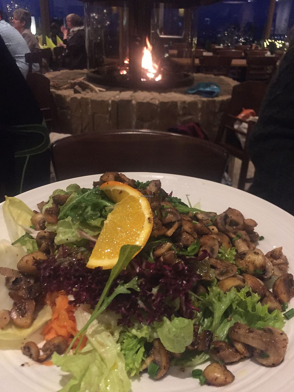 "Photo of Panorama  by <a href=""/members/profile/Emanuelle"">Emanuelle</a> <br/>Fresh and huge vegan salad with grilled mushrooms in front of cozy fire place <br/> March 9, 2018  - <a href='/contact/abuse/image/109259/368563'>Report</a>"