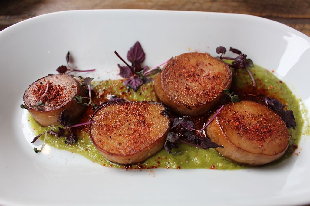 """Photo of The Spread Eagle  by <a href=""""/members/profile/AllGoodAllVegan"""">AllGoodAllVegan</a> <br/>Pan Seared Scallops <br/> January 21, 2018  - <a href='/contact/abuse/image/109265/349353'>Report</a>"""
