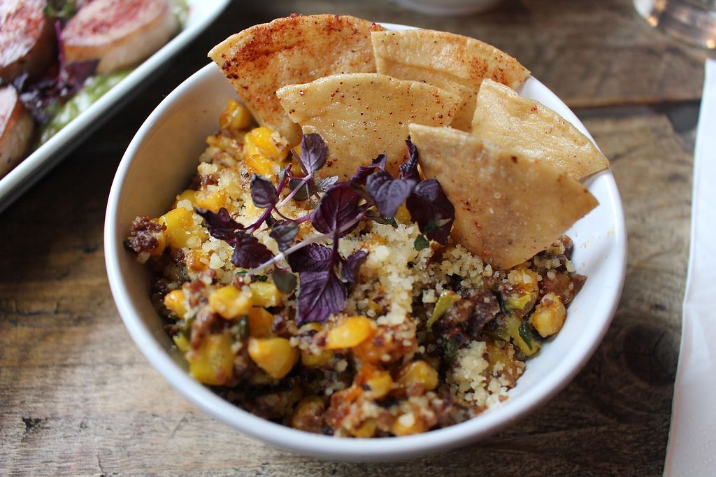 """Photo of The Spread Eagle  by <a href=""""/members/profile/AllGoodAllVegan"""">AllGoodAllVegan</a> <br/>Corn Esquites and Totopes <br/> January 21, 2018  - <a href='/contact/abuse/image/109265/349354'>Report</a>"""