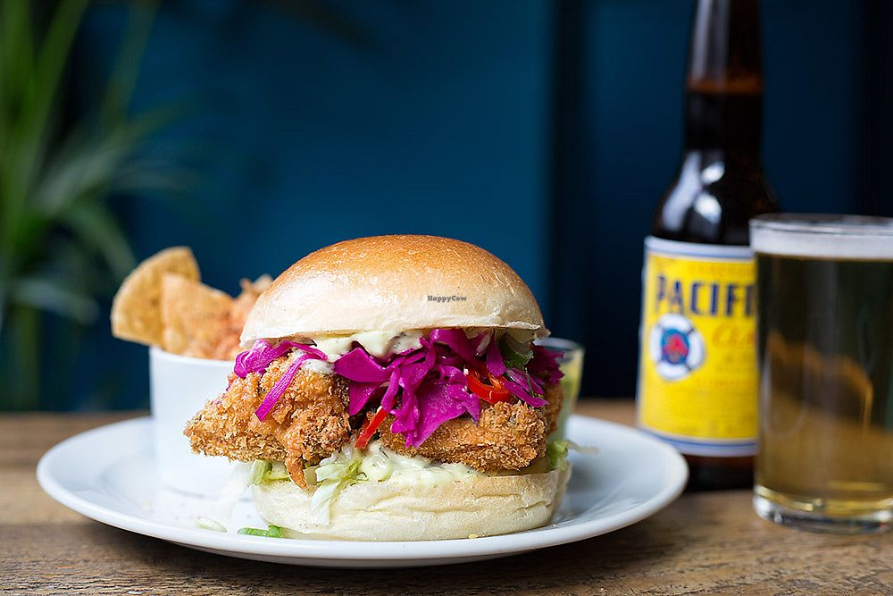 """Photo of The Spread Eagle  by <a href=""""/members/profile/ClubMexicana"""">ClubMexicana</a> <br/>Tofish finger sandwich with beer battered tofish, pickled cabbage, tartare sauce and deep fried capers  <br/> February 5, 2018  - <a href='/contact/abuse/image/109265/355345'>Report</a>"""