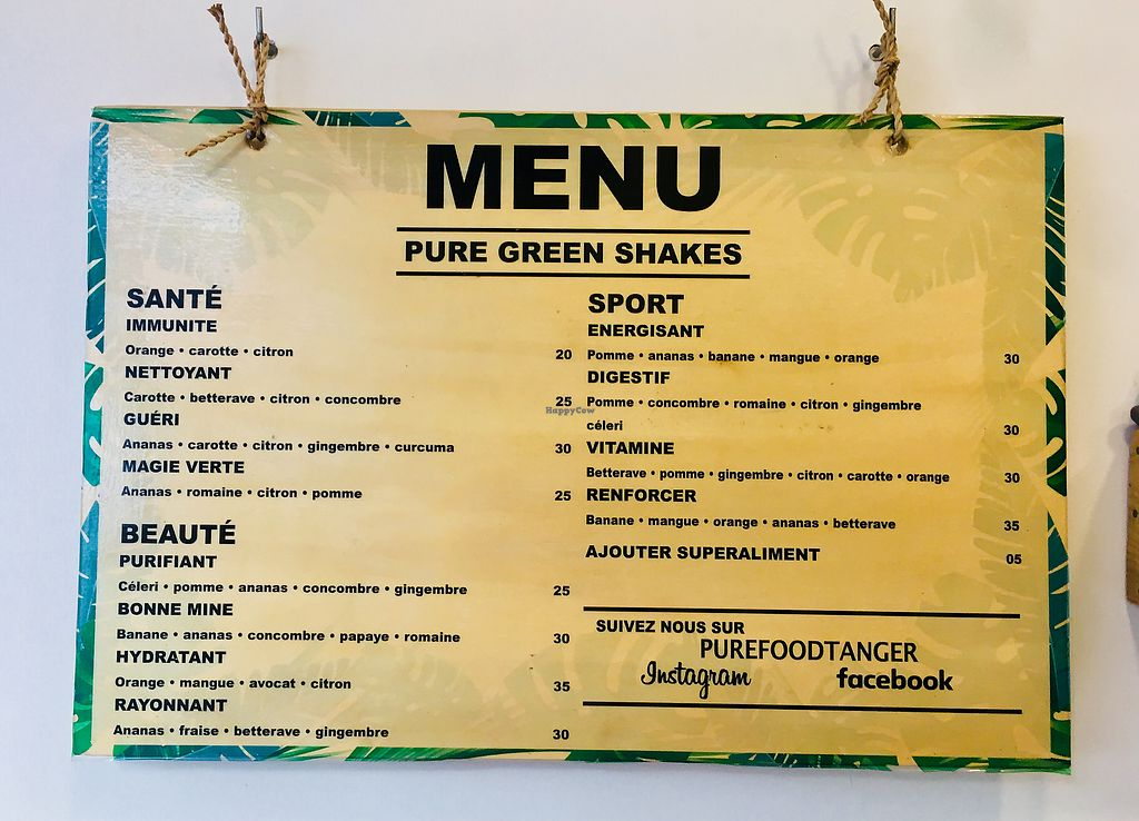 """Photo of Pure Food  by <a href=""""/members/profile/Bananacake"""">Bananacake</a> <br/>Pure Food menu  <br/> January 11, 2018  - <a href='/contact/abuse/image/109277/345624'>Report</a>"""