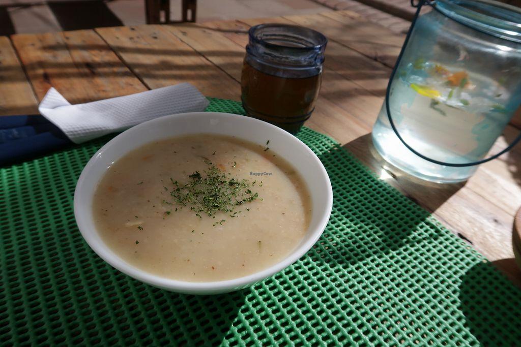 "Photo of Qaway Mirar  by <a href=""/members/profile/ajito"">ajito</a> <br/>Lunch menu oat soup <br/> April 19, 2018  - <a href='/contact/abuse/image/109287/388259'>Report</a>"