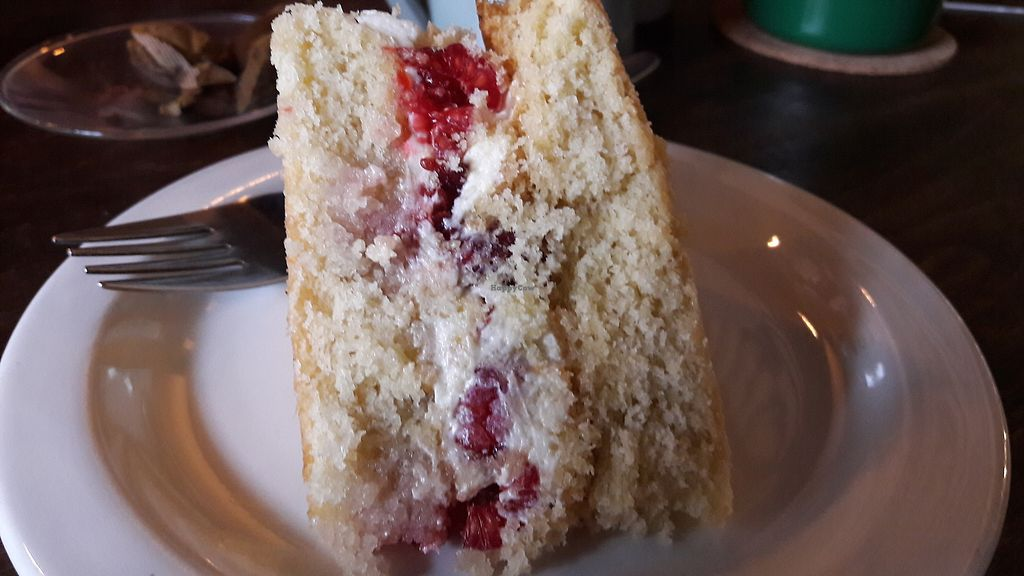 """Photo of One Sixty  by <a href=""""/members/profile/Veganolive1"""">Veganolive1</a> <br/>Vegan Victoria sponge cake <br/> January 31, 2018  - <a href='/contact/abuse/image/109316/353187'>Report</a>"""
