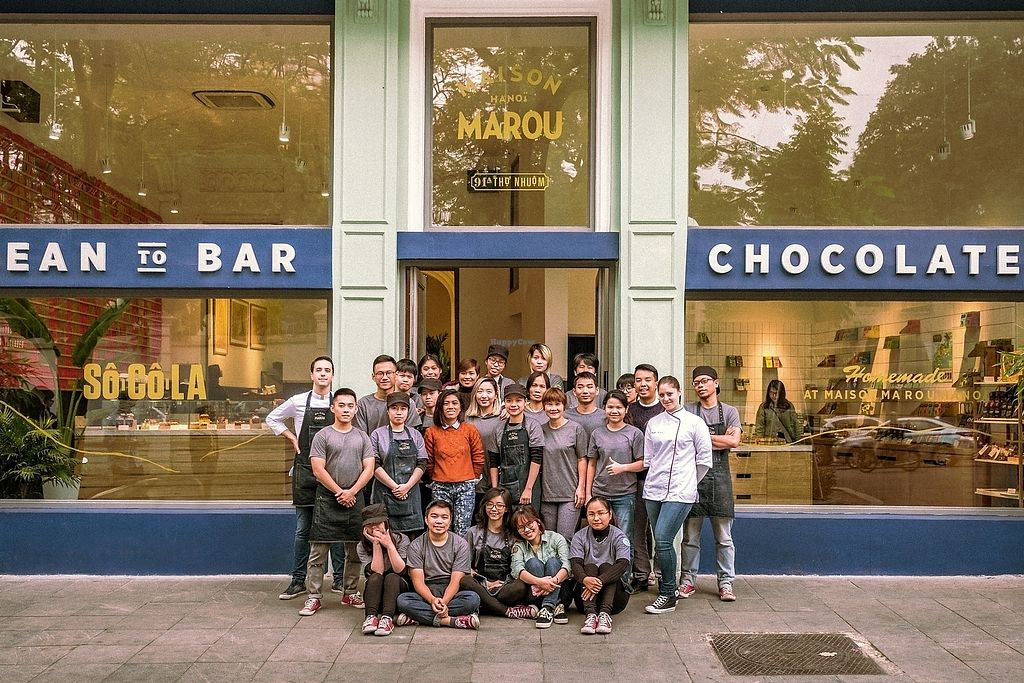 "Photo of Maison Marou Hanoi  by <a href=""/members/profile/QuanNguyen"">QuanNguyen</a> <br/>Maison Marou Hanoi Staff is ready to serve you delicious (animal cruelty-free) chocolate product! <br/> January 13, 2018  - <a href='/contact/abuse/image/109328/346073'>Report</a>"