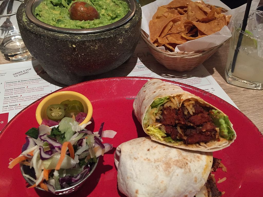 """Photo of Lupita  by <a href=""""/members/profile/beckylyk"""">beckylyk</a> <br/>Vegan seitan burrito and guacamole made fresh at the table <br/> April 14, 2018  - <a href='/contact/abuse/image/109332/385656'>Report</a>"""