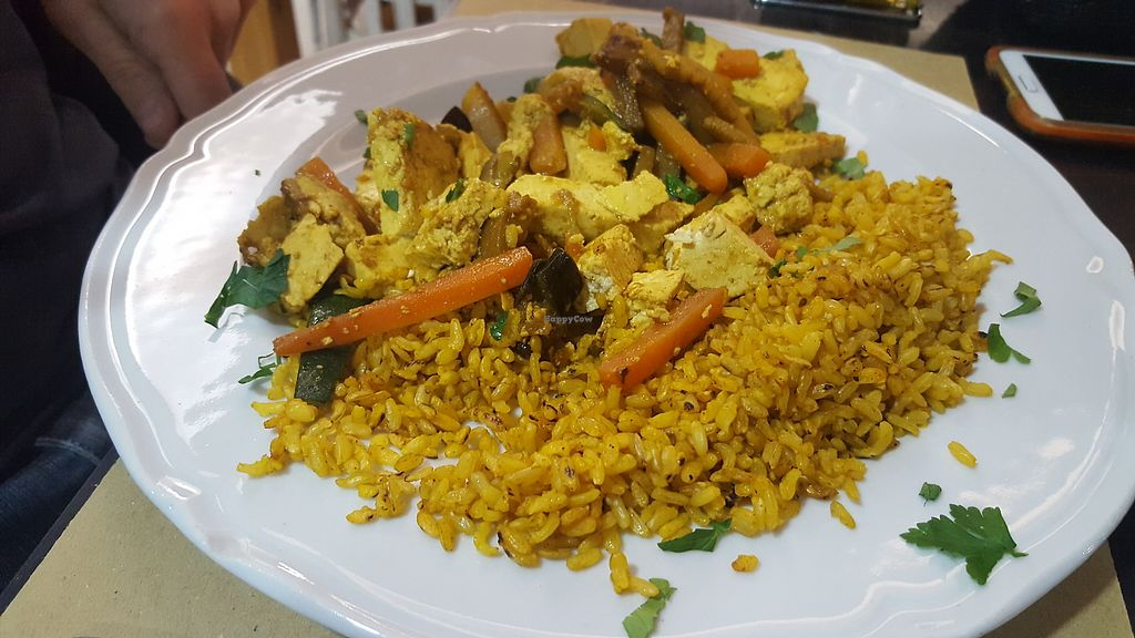 """Photo of Amico Bio - Spartacus Arena  by <a href=""""/members/profile/spunkiVeg"""">spunkiVeg</a> <br/>Vegetable Wok with Tofu <br/> February 1, 2018  - <a href='/contact/abuse/image/109354/353401'>Report</a>"""