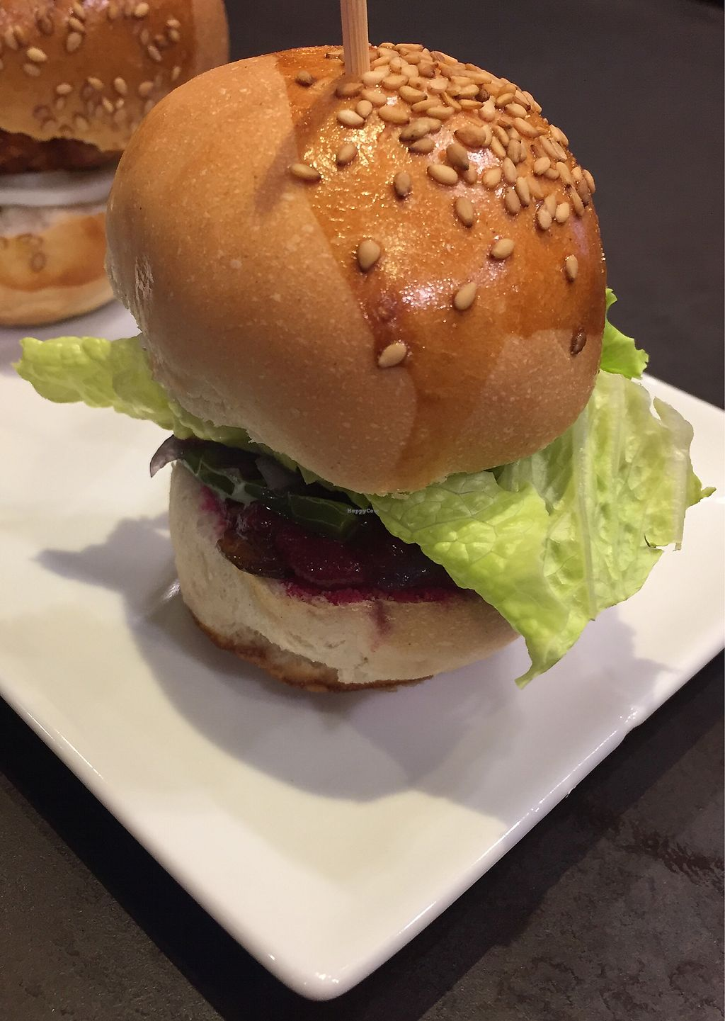 "Photo of Taberna Lucky 13  by <a href=""/members/profile/Carlaisvegan28"">Carlaisvegan28</a> <br/>Mini vegan burger  <br/> January 13, 2018  - <a href='/contact/abuse/image/109366/346125'>Report</a>"