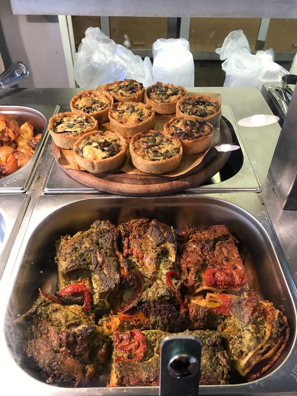 """Photo of Meshek Barzilay Deli  by <a href=""""/members/profile/Brok%20O.%20Lee"""">Brok O. Lee</a> <br/>Mini vegan quiches and other hot food <br/> January 13, 2018  - <a href='/contact/abuse/image/109391/346248'>Report</a>"""