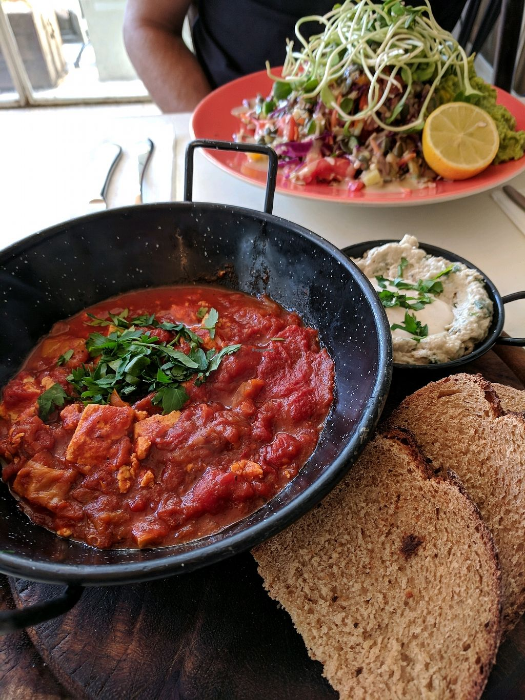 """Photo of Meshek Barzilay Deli  by <a href=""""/members/profile/NJ220"""">NJ220</a> <br/>Shakshuka and the Israeli salad. Both great <br/> February 28, 2018  - <a href='/contact/abuse/image/109391/364774'>Report</a>"""