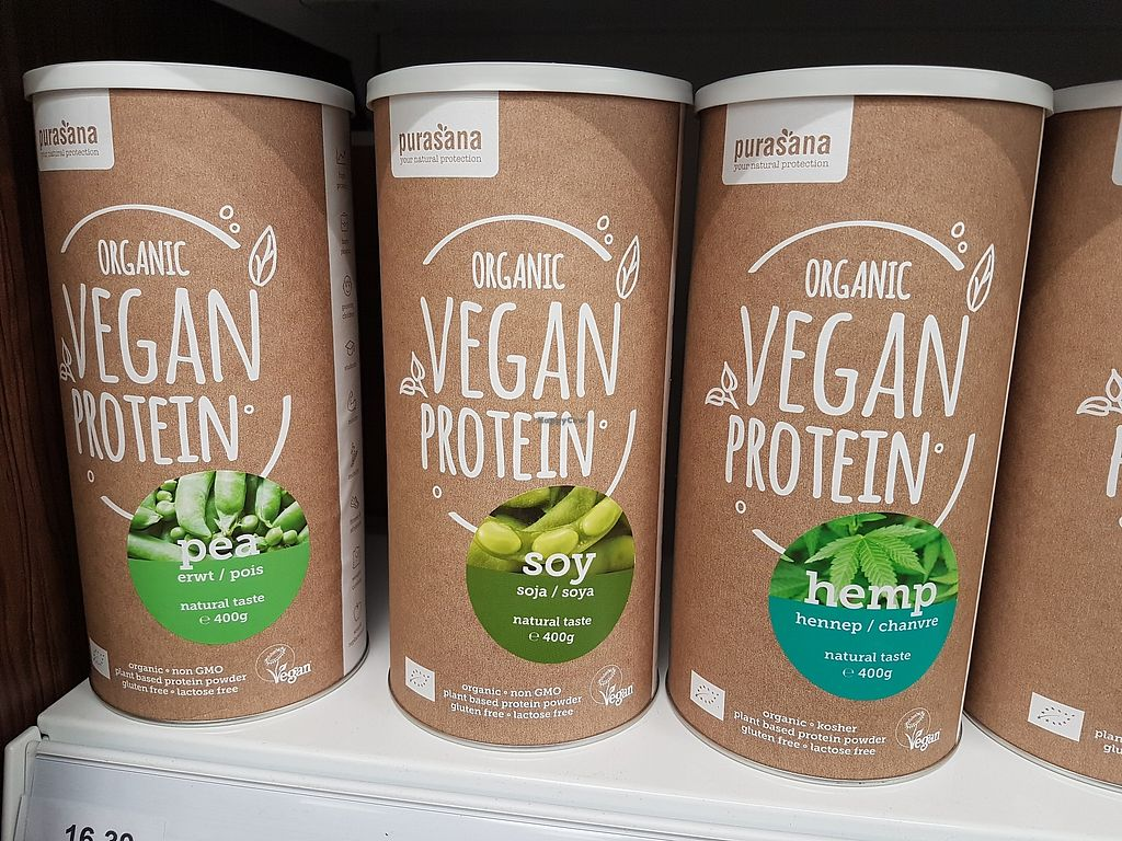 """Photo of Holland & Barrett  by <a href=""""/members/profile/TrudiBruges"""">TrudiBruges</a> <br/>vegan protein powder  <br/> January 22, 2018  - <a href='/contact/abuse/image/109395/349792'>Report</a>"""