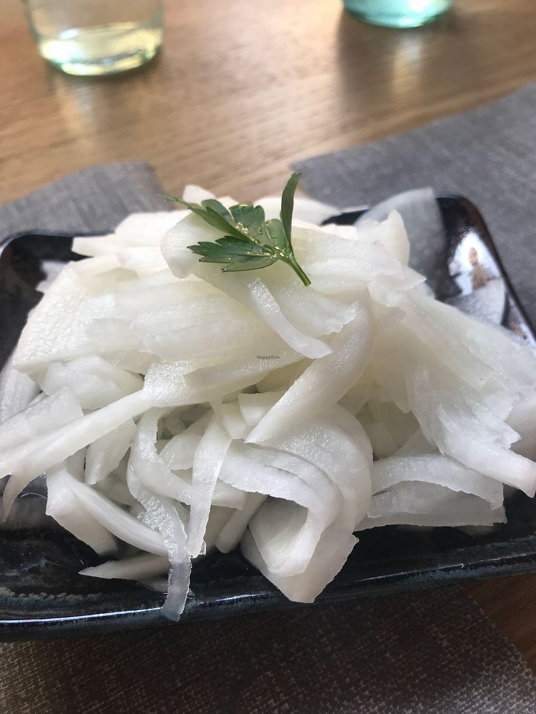 "Photo of Ramen a Mano  by <a href=""/members/profile/SilviaGoggi"">SilviaGoggi</a> <br/>White carrot marinated with vinegar  <br/> January 14, 2018  - <a href='/contact/abuse/image/109410/346502'>Report</a>"