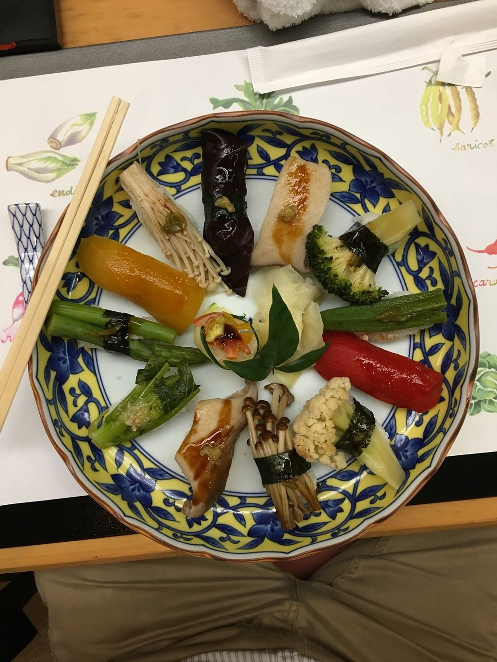 "Photo of Sushi Sansui  by <a href=""/members/profile/RobertoGuerra"">RobertoGuerra</a> <br/>Delicious selection of vegan sushi <br/> January 14, 2018  - <a href='/contact/abuse/image/109413/346379'>Report</a>"