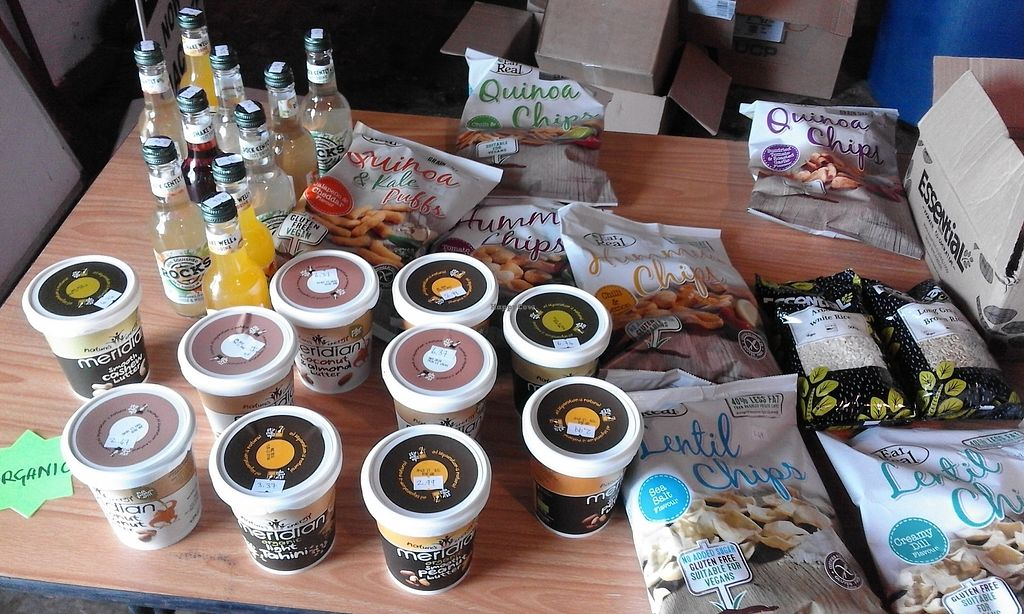 """Photo of Rootski Co-op  by <a href=""""/members/profile/KozzieFonz"""">KozzieFonz</a> <br/>Picture taken of a stall at the local Macduff Market. Most items are vegan as are at the shop in Banff <br/> January 19, 2018  - <a href='/contact/abuse/image/109414/348153'>Report</a>"""