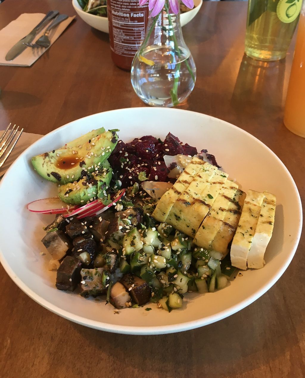 """Photo of Flower Child - Downtown  by <a href=""""/members/profile/lysi"""">lysi</a> <br/>Vegan poke bowl  <br/> January 14, 2018  - <a href='/contact/abuse/image/109440/346339'>Report</a>"""