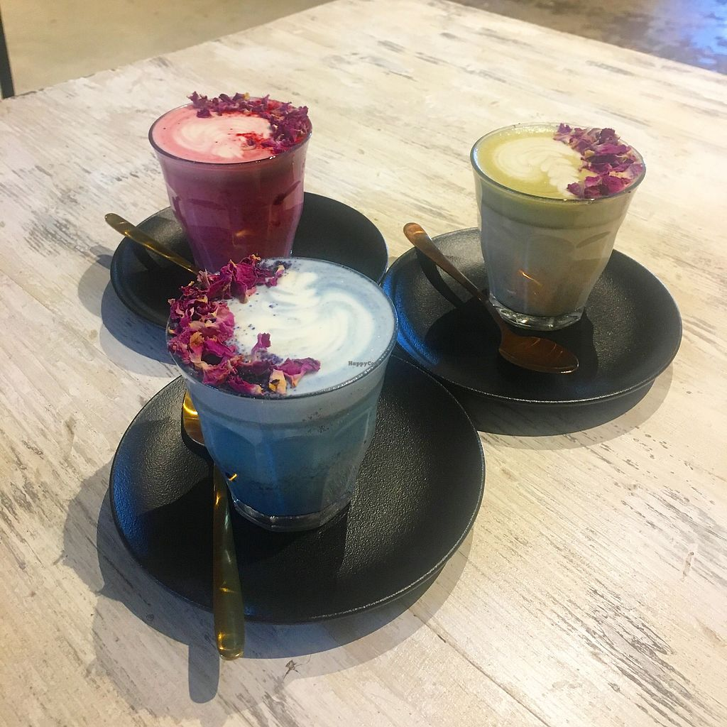 """Photo of The Clean Treats Factory  by <a href=""""/members/profile/jessevelyn"""">jessevelyn</a> <br/>Rainbow lattes  <br/> March 10, 2018  - <a href='/contact/abuse/image/109475/368767'>Report</a>"""
