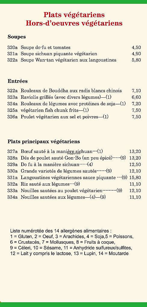 """Photo of Restaurant L'Hirondelle Royale Sarl  by <a href=""""/members/profile/saoirse.sa.domhain"""">saoirse.sa.domhain</a> <br/>Their vegan menu (In French Unfortunately) <br/> January 26, 2018  - <a href='/contact/abuse/image/109487/351237'>Report</a>"""