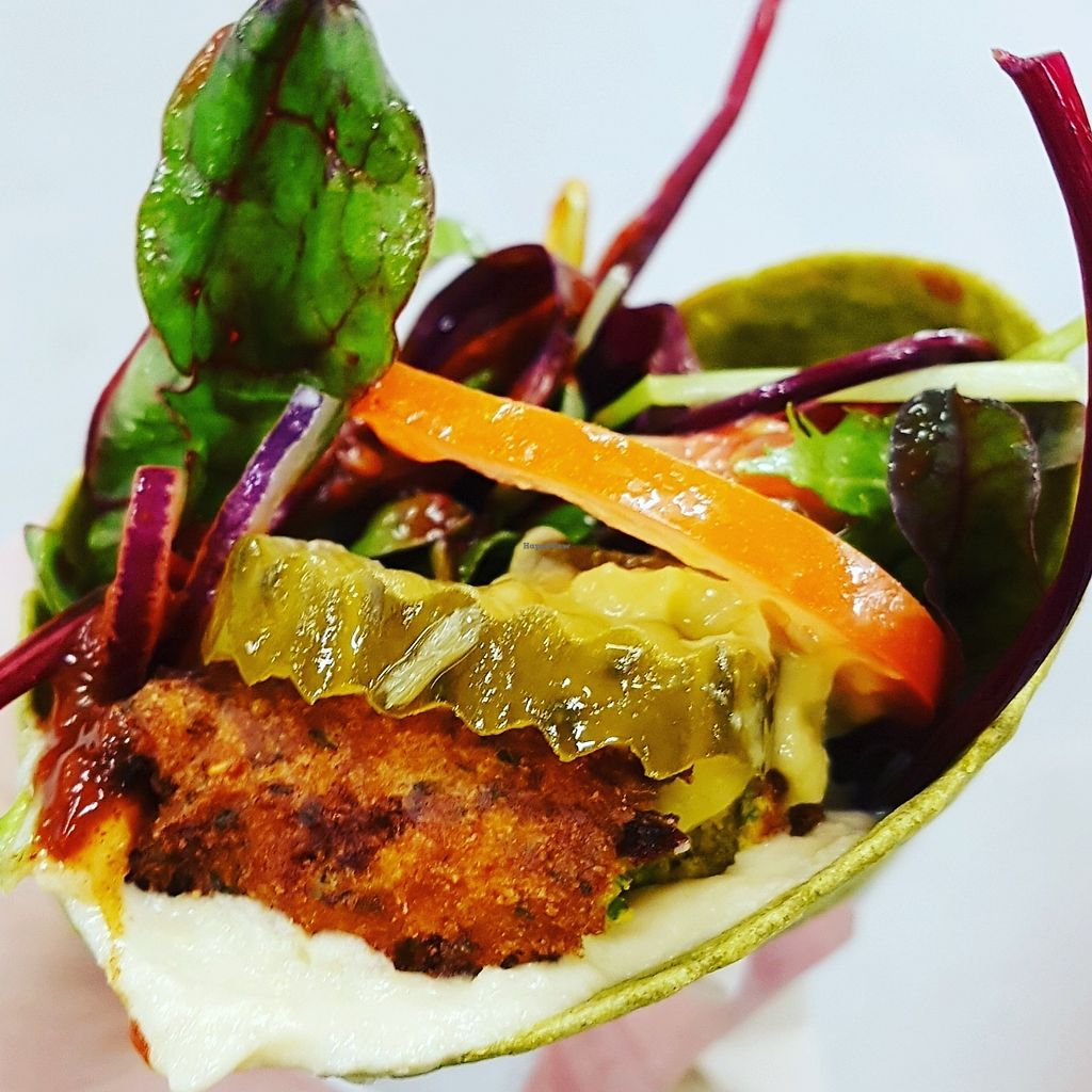 """Photo of The Falafia  by <a href=""""/members/profile/PinkSpider"""">PinkSpider</a> <br/>Falafel wrap from the Falafia <br/> January 17, 2018  - <a href='/contact/abuse/image/109488/347377'>Report</a>"""
