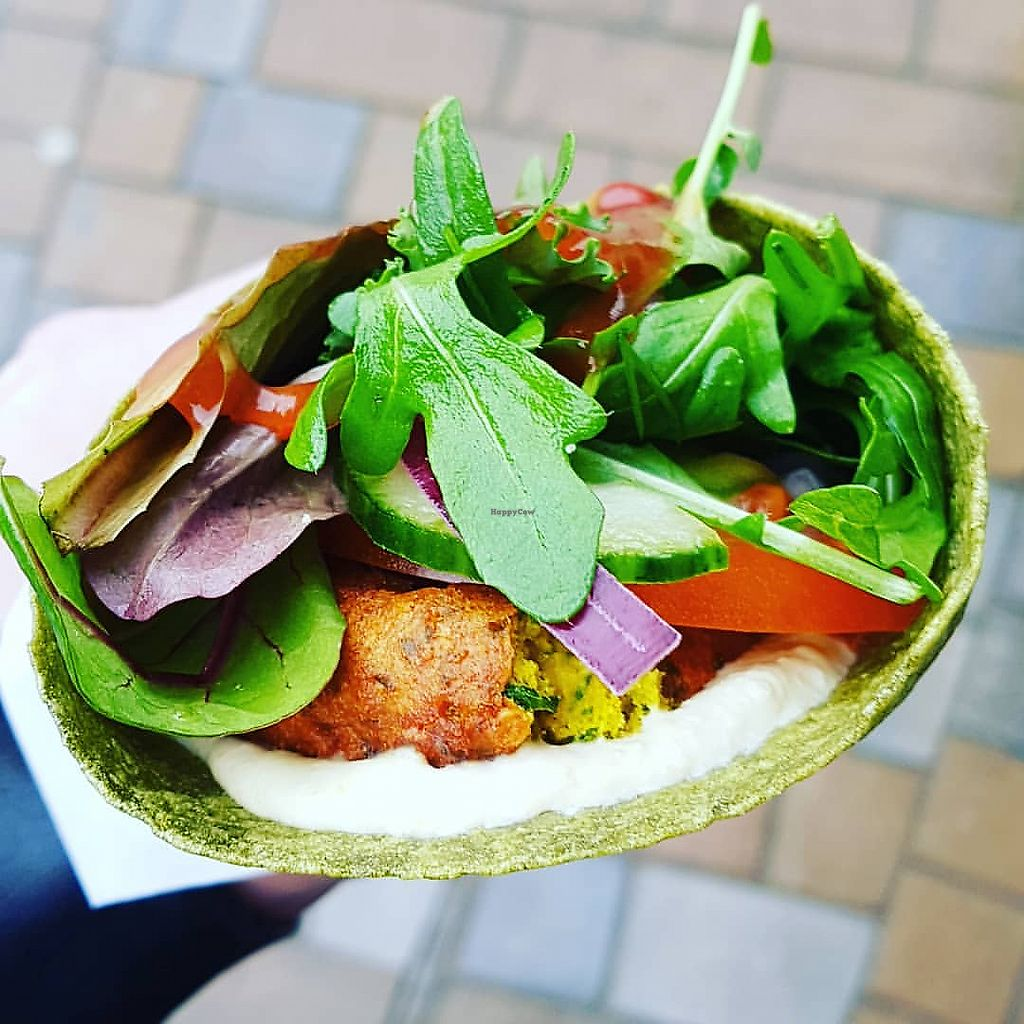 """Photo of The Falafia  by <a href=""""/members/profile/PinkSpider"""">PinkSpider</a> <br/>The Falafia falafel wrap <br/> January 21, 2018  - <a href='/contact/abuse/image/109488/349413'>Report</a>"""