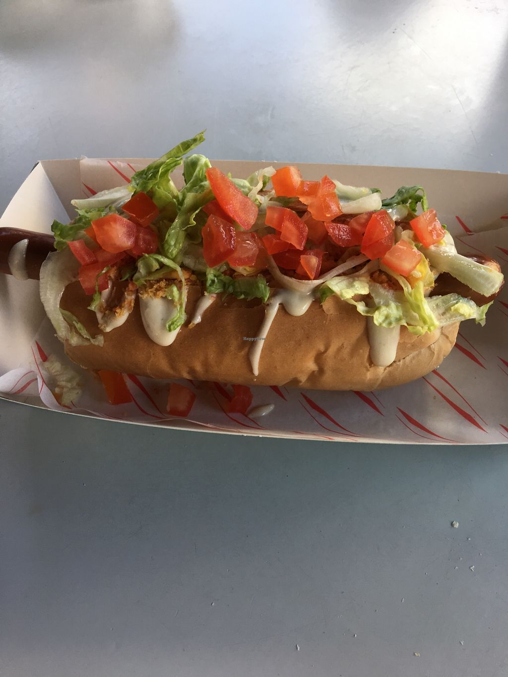 "Photo of Good Dog Vegan Hot Dogs  by <a href=""/members/profile/Lilcrazydee1129"">Lilcrazydee1129</a> <br/>My BLT dog  <br/> March 19, 2018  - <a href='/contact/abuse/image/109489/372974'>Report</a>"