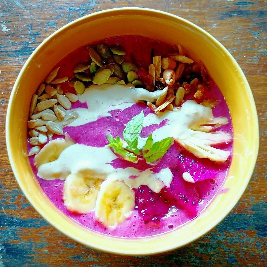 """Photo of The Beet Box  by <a href=""""/members/profile/MisoNomad"""">MisoNomad</a> <br/>Dragon Passion Smoothie Bowl <br/> January 17, 2018  - <a href='/contact/abuse/image/109555/347412'>Report</a>"""