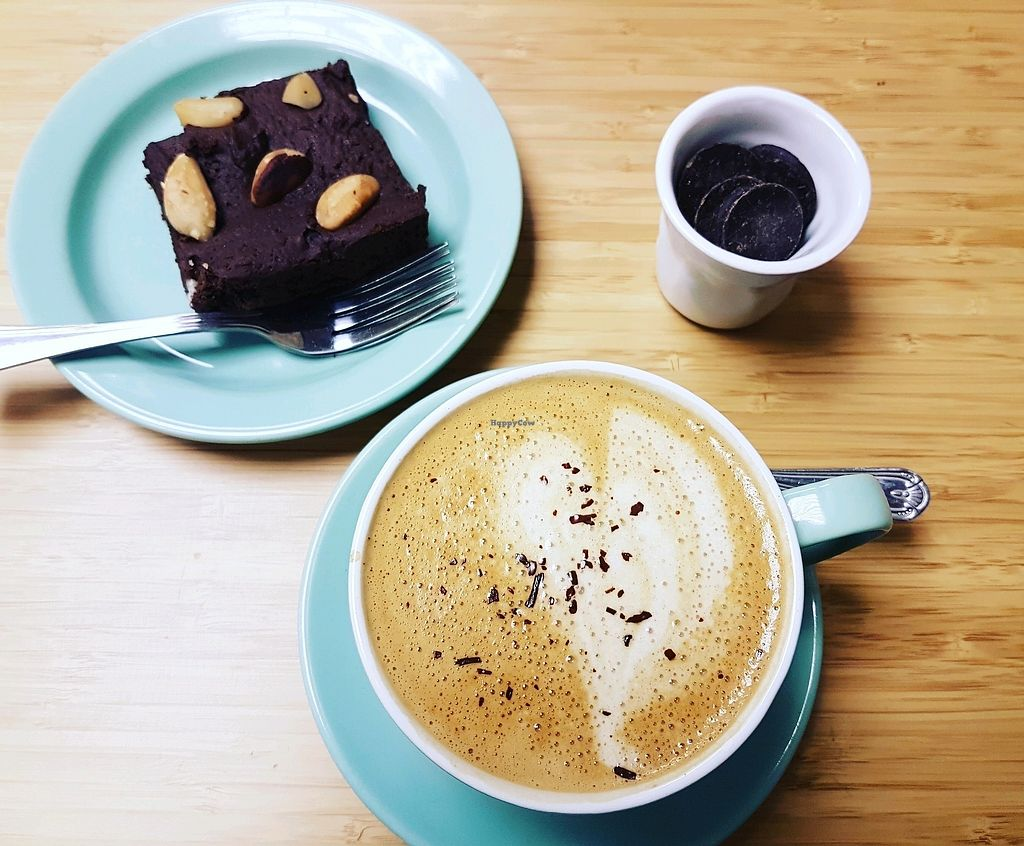 """Photo of Cocoa Loco  by <a href=""""/members/profile/Mellow2bee"""">Mellow2bee</a> <br/>Vegan brazil brownie with coconut coffee <br/> March 9, 2018  - <a href='/contact/abuse/image/109595/368578'>Report</a>"""
