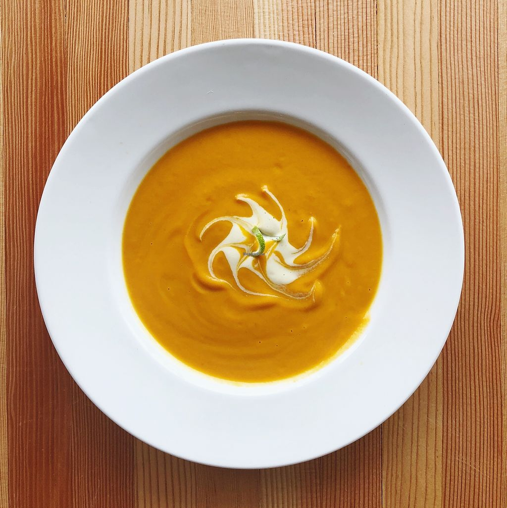 """Photo of Tiny Moreso  by <a href=""""/members/profile/JennPereau"""">JennPereau</a> <br/>Soup of the Day: Carrot Ginger <br/> January 15, 2018  - <a href='/contact/abuse/image/109601/347005'>Report</a>"""