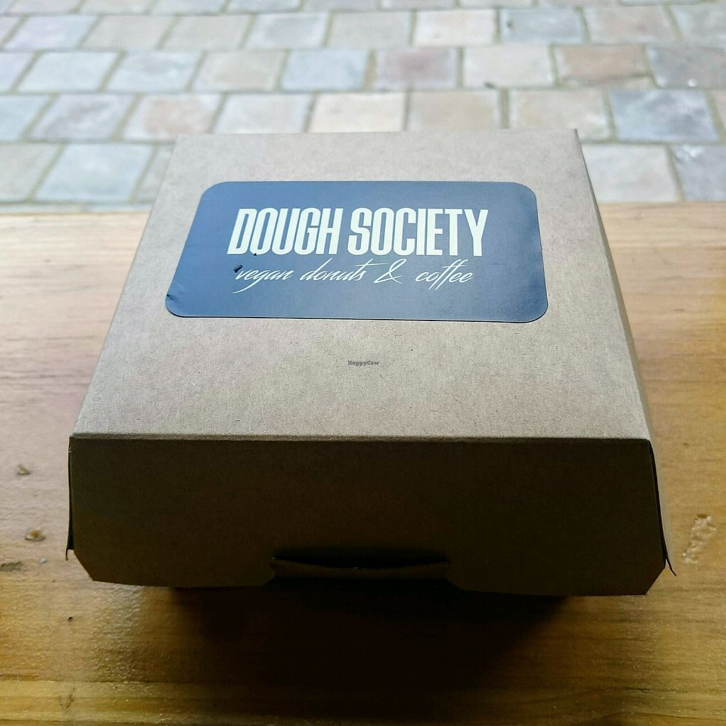 """Photo of Dough Society  by <a href=""""/members/profile/robz"""">robz</a> <br/>doughnut box <br/> January 17, 2018  - <a href='/contact/abuse/image/109611/347647'>Report</a>"""
