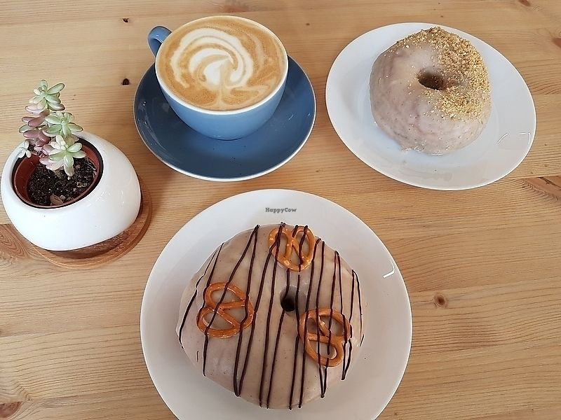 """Photo of Dough Society  by <a href=""""/members/profile/TrudiBruges"""">TrudiBruges</a> <br/>Donuts!  peanut butter banana and peanut butter pretzel <br/> March 31, 2018  - <a href='/contact/abuse/image/109611/378651'>Report</a>"""