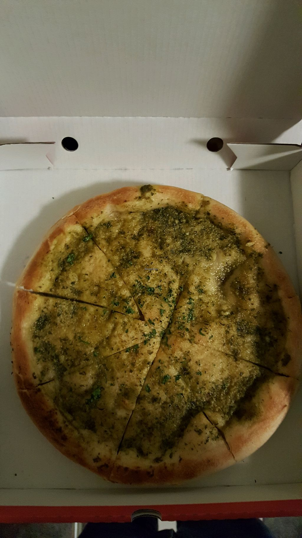 """Photo of La Bella  by <a href=""""/members/profile/KarlAyers"""">KarlAyers</a> <br/>Vegan Pesto Garlic Bread <br/> February 18, 2018  - <a href='/contact/abuse/image/109624/361003'>Report</a>"""