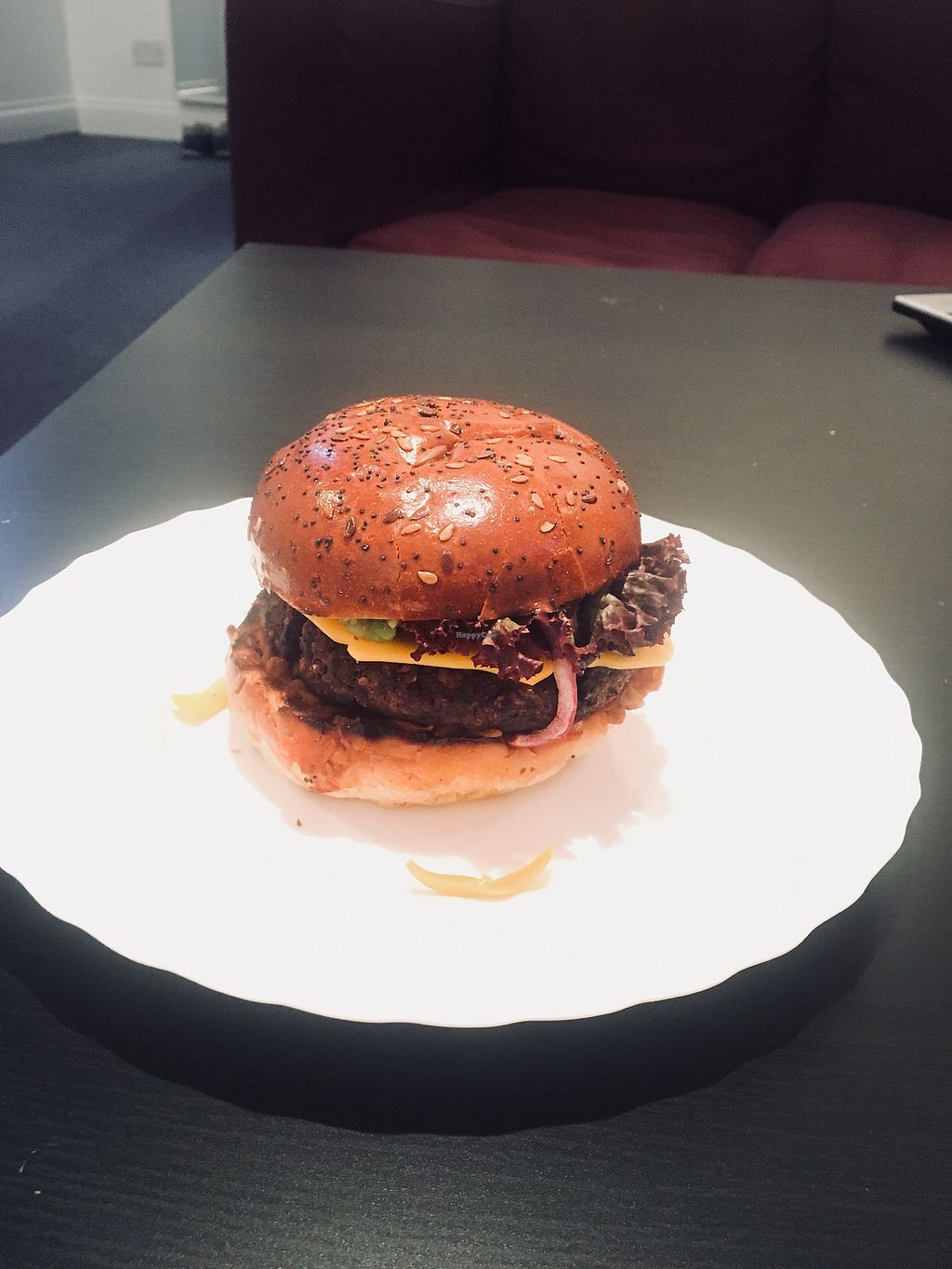 """Photo of The Vegan Alternative: Burger & Bao  by <a href=""""/members/profile/kb3"""">kb3</a> <br/>Burger! <br/> February 28, 2018  - <a href='/contact/abuse/image/109633/364898'>Report</a>"""