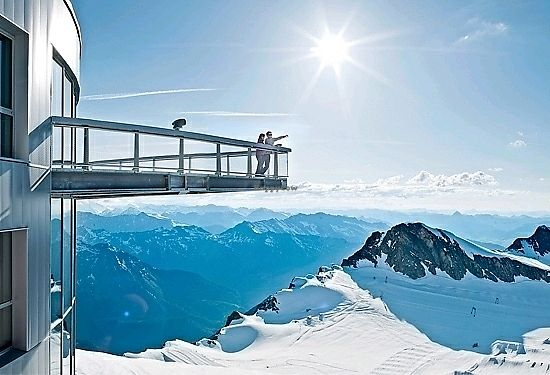 """Photo of Gipfel Restaurant Kitzsteinhorn  by <a href=""""/members/profile/Zjef"""">Zjef</a> <br/>on the top floor, there's a lookout <br/> January 17, 2018  - <a href='/contact/abuse/image/109677/347490'>Report</a>"""