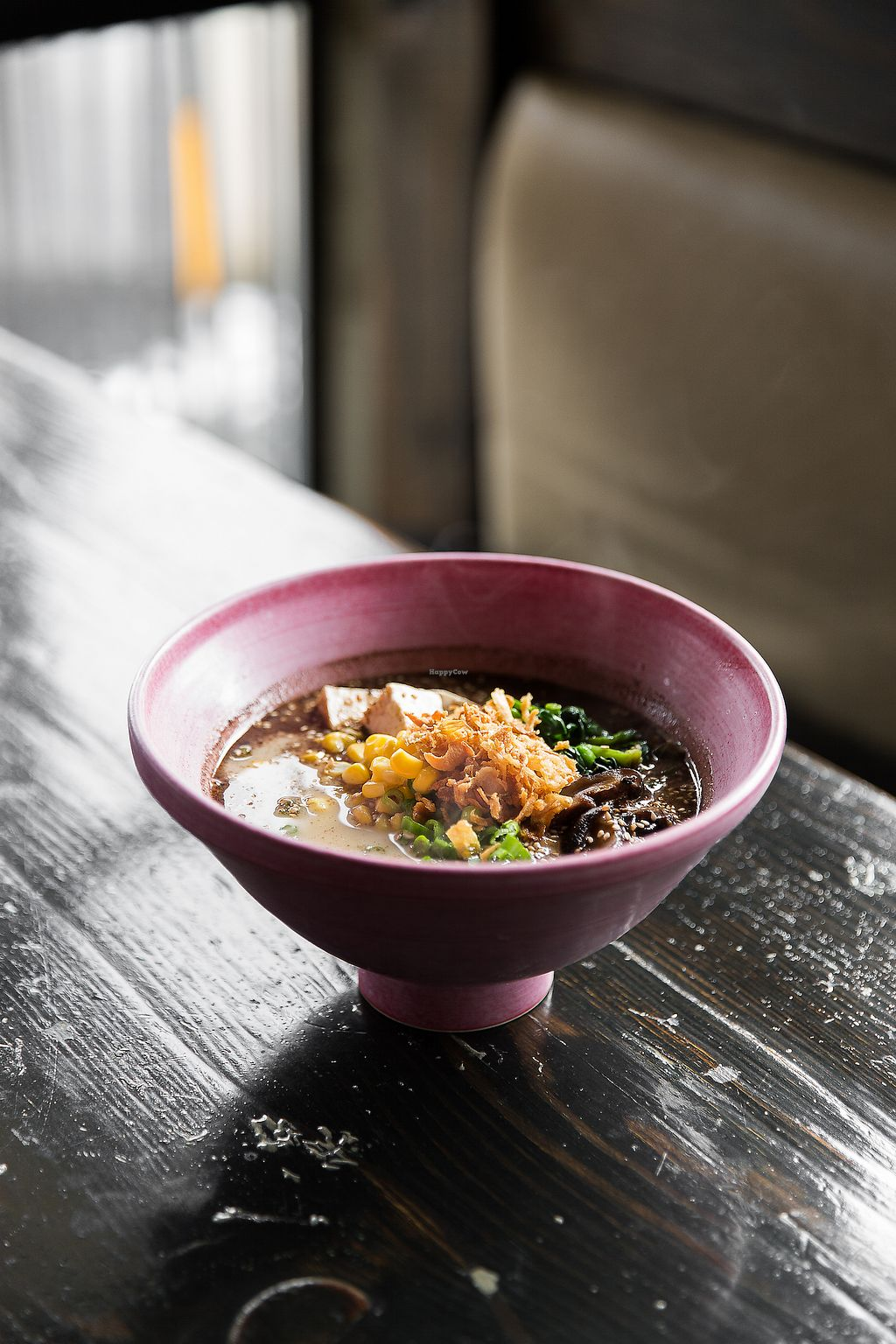 """Photo of Ohyama Ramen  by <a href=""""/members/profile/akikaltenbach"""">akikaltenbach</a> <br/>Our signature Creamy Vegan ramen comes with tofu, Shiitake mushrooms, greens, corn, and kale noodles <br/> January 17, 2018  - <a href='/contact/abuse/image/109678/347435'>Report</a>"""