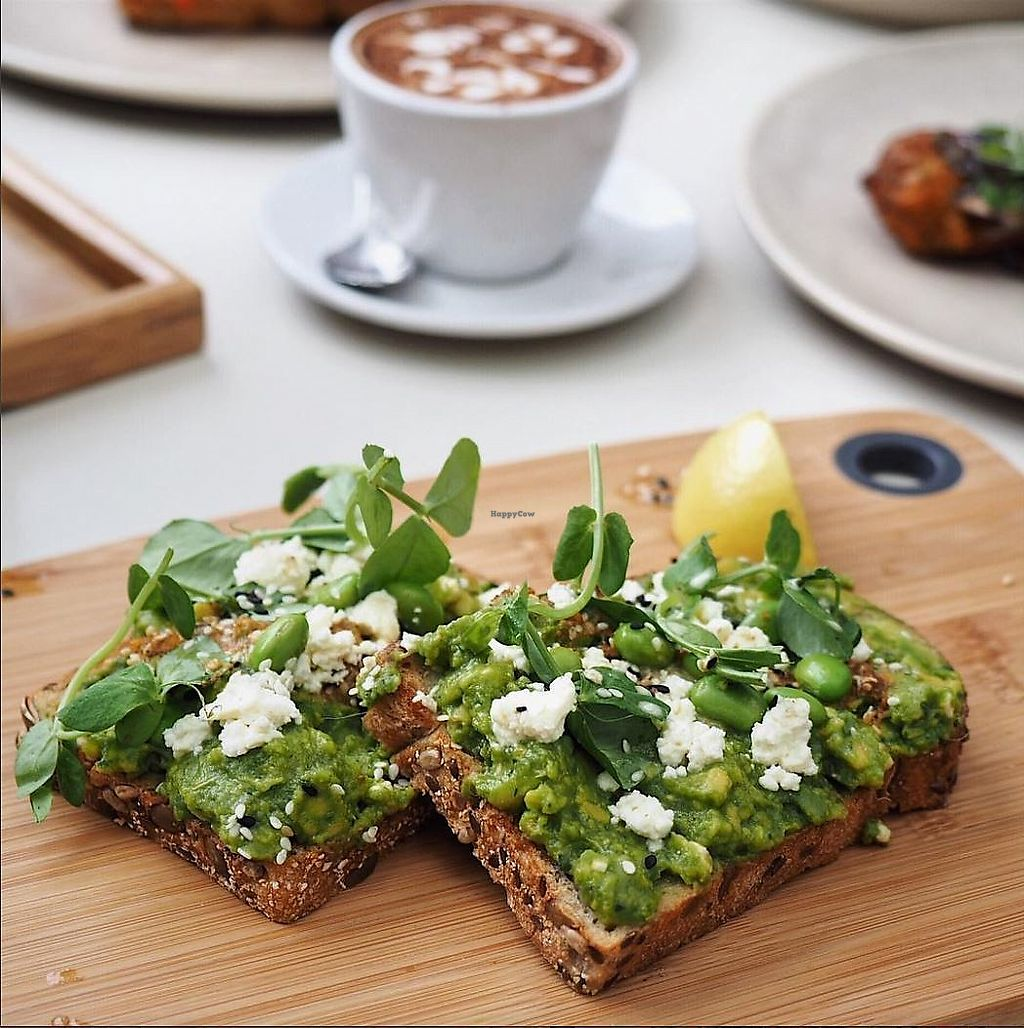 "Photo of The Resident Cafe  by <a href=""/members/profile/christinargh"">christinargh</a> <br/>Vegan Smashed Avo - tofu feta, herb salad, super seeds with chilli olive crumb <br/> January 22, 2018  - <a href='/contact/abuse/image/109692/349612'>Report</a>"