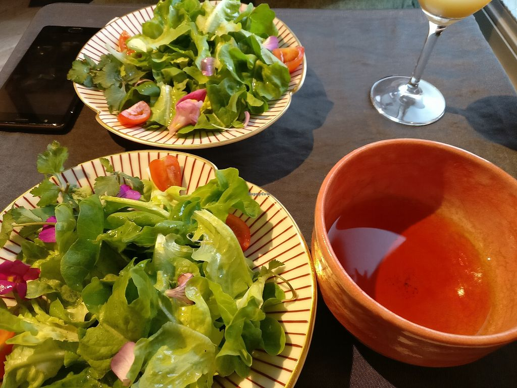 """Photo of Onwa  by <a href=""""/members/profile/CharlotteMcNicholas"""">CharlotteMcNicholas</a> <br/>Fresh salad to start and black tea <br/> April 1, 2018  - <a href='/contact/abuse/image/109696/379276'>Report</a>"""