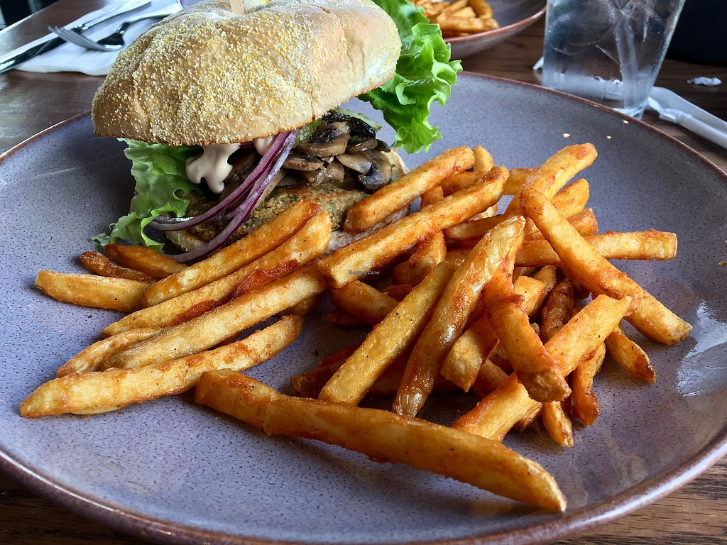"Photo of R G Burgers  by <a href=""/members/profile/Clean%26Green"">Clean&Green</a> <br/>Veggie falafel burger & seasoned fries <br/> January 17, 2018  - <a href='/contact/abuse/image/109697/347484'>Report</a>"