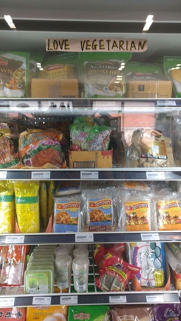 """Photo of Tsing Wah Asian Grocers  by <a href=""""/members/profile/wildeyedgirl"""">wildeyedgirl</a> <br/>tempeh, mock fish, frozen taro, dumpling and wonton wrappers, and more <br/> January 17, 2018  - <a href='/contact/abuse/image/109700/347774'>Report</a>"""