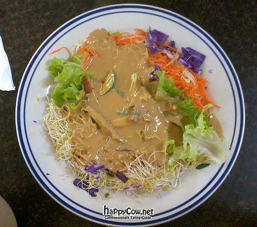 """Photo of Tea Shrine  by <a href=""""/members/profile/cvxmelody"""">cvxmelody</a> <br/>Cold noodle salad with satay sauce <br/> May 7, 2012  - <a href='/contact/abuse/image/10970/31609'>Report</a>"""