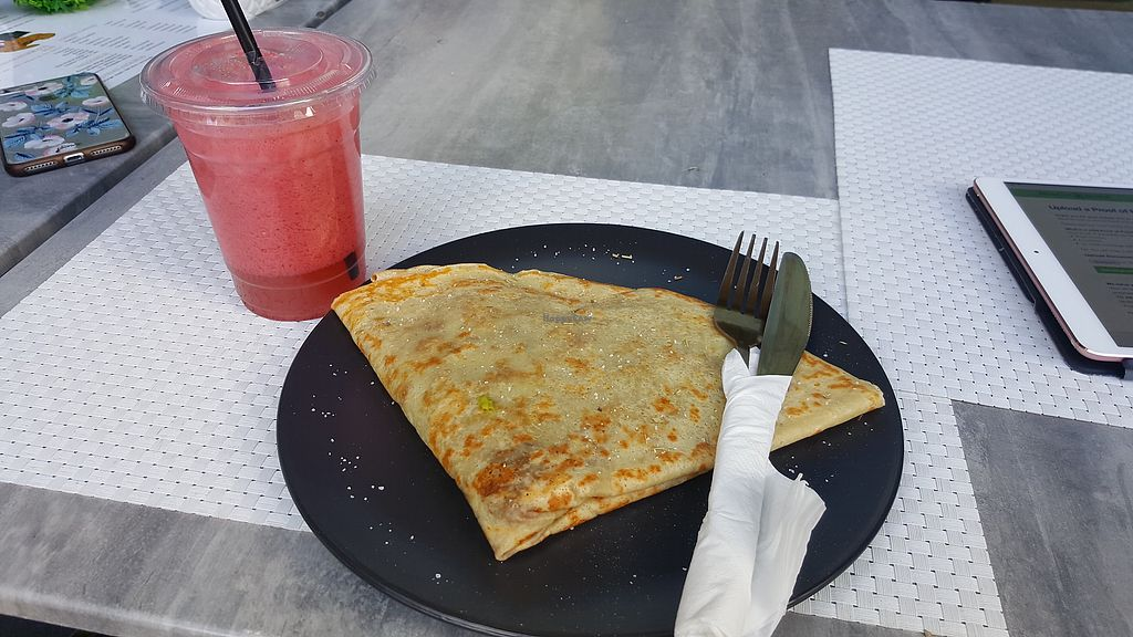 """Photo of Le Petit Paris  by <a href=""""/members/profile/nafanc"""">nafanc</a> <br/>Vegan crepe <br/> February 10, 2018  - <a href='/contact/abuse/image/109714/357179'>Report</a>"""