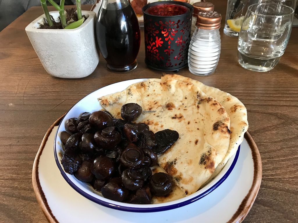 """Photo of The Butlers Arms  by <a href=""""/members/profile/Sasha200692"""">Sasha200692</a> <br/>Soy & balsamic mushrooms with vegan bread  <br/> February 27, 2018  - <a href='/contact/abuse/image/109729/364574'>Report</a>"""