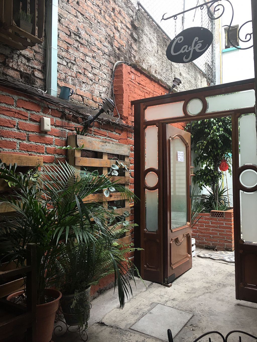 """Photo of Luna Vegana  by <a href=""""/members/profile/kittybabe"""">kittybabe</a> <br/>Inside. Loved the plants, brick wall, overall super cute interior/atmosphere  <br/> May 5, 2018  - <a href='/contact/abuse/image/109769/395710'>Report</a>"""