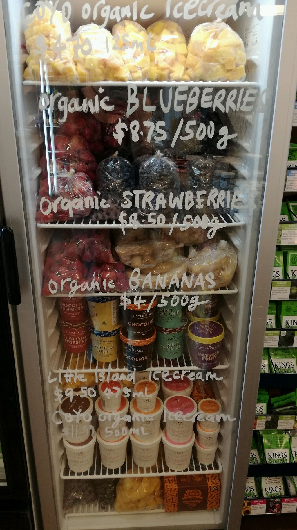 """Photo of Be Organics  by <a href=""""/members/profile/evajelen"""">evajelen</a> <br/>coconut ice cream and frozen fruit! freezer goals!! <br/> January 24, 2018  - <a href='/contact/abuse/image/109841/350250'>Report</a>"""