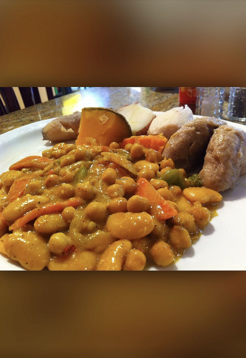 "Photo of Coconutz Fusion Cafe  by <a href=""/members/profile/AlexGibson"">AlexGibson</a> <br/>Chickpeas & Butter beans in coconut curry sauce  <br/> January 29, 2018  - <a href='/contact/abuse/image/109874/352432'>Report</a>"