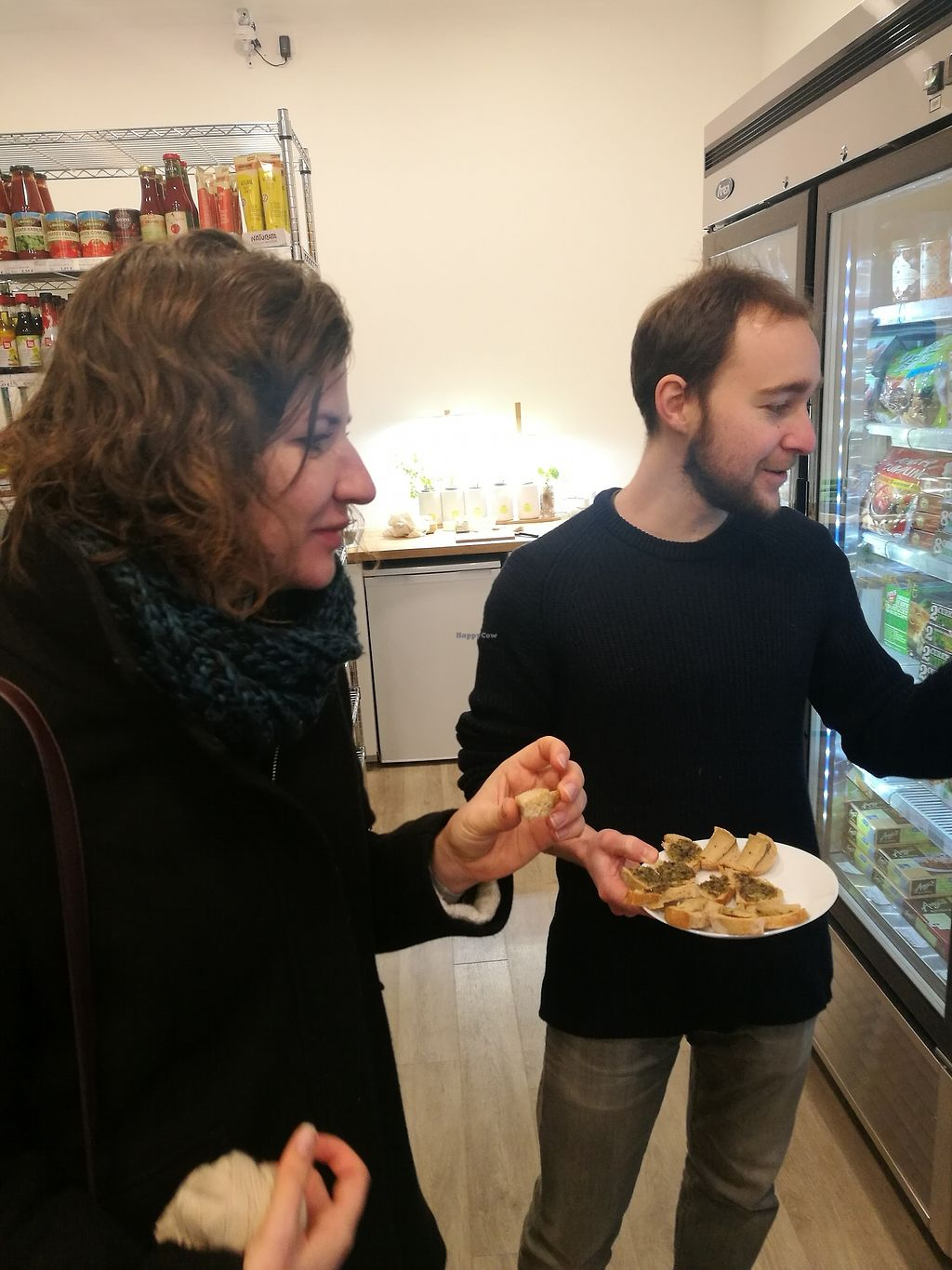 """Photo of Vegan Culinary Tours Paris  by <a href=""""/members/profile/ThomasTieyre"""">ThomasTieyre</a> <br/>Tasting in a 100% vegan shop <br/> January 22, 2018  - <a href='/contact/abuse/image/109915/349702'>Report</a>"""