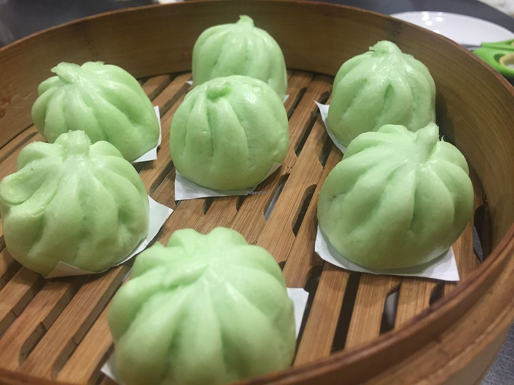 "Photo of Harmony Village Vegetarian  by <a href=""/members/profile/SamanthaIngridHo"">SamanthaIngridHo</a> <br/>Steamed pandan lotus seed paste bun <br/> December 9, 2017  - <a href='/contact/abuse/image/10991/333779'>Report</a>"