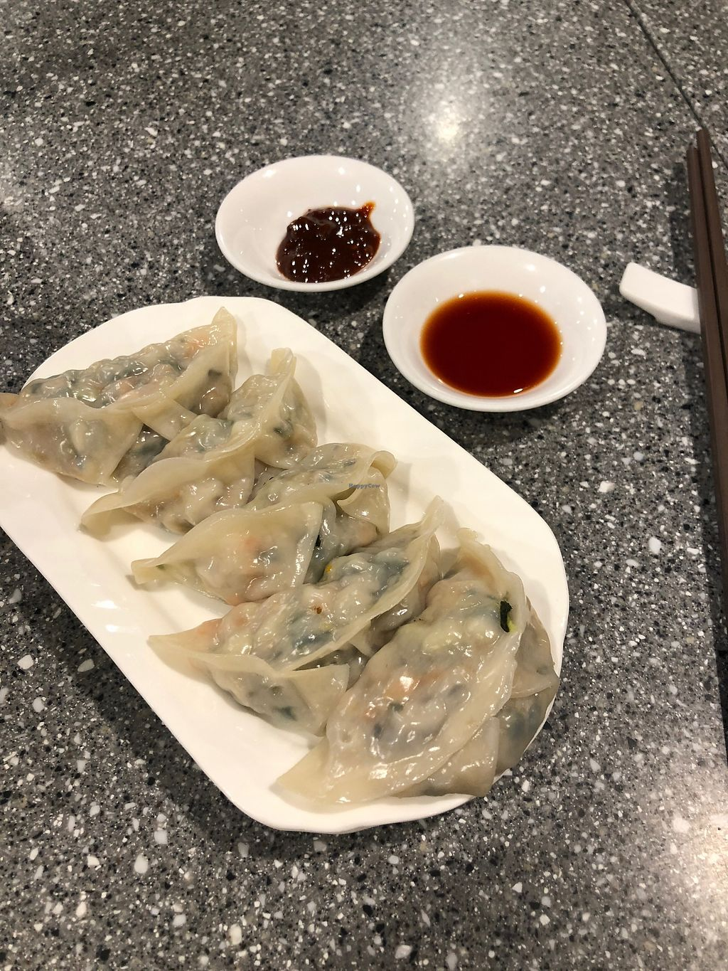 "Photo of Harmony Village Vegetarian  by <a href=""/members/profile/SamanthaIngridHo"">SamanthaIngridHo</a> <br/>Steamed dumplings <br/> April 13, 2018  - <a href='/contact/abuse/image/10991/385111'>Report</a>"