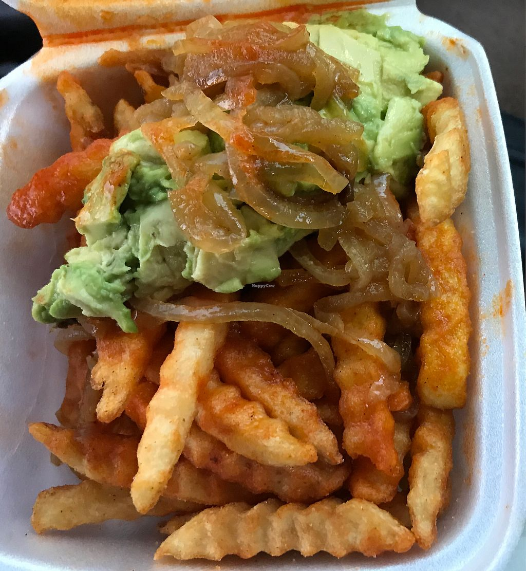 "Photo of Shake 'N Buns  by <a href=""/members/profile/glassesgirl79"">glassesgirl79</a> <br/>Buffalo fries topped with grilled onions and avocado  <br/> April 15, 2018  - <a href='/contact/abuse/image/109956/386036'>Report</a>"