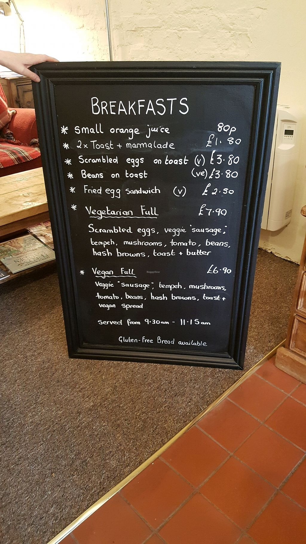 """Photo of The Green Cottage  by <a href=""""/members/profile/KarlAyers"""">KarlAyers</a> <br/>Breakfast Menu <br/> March 14, 2018  - <a href='/contact/abuse/image/110024/370556'>Report</a>"""