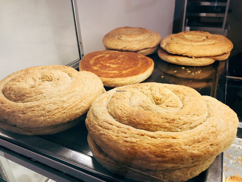 """Photo of Üstün Palmie Pastanesi  by <a href=""""/members/profile/veganoteacher"""">veganoteacher</a> <br/>Tahini Pastries  <br/> March 22, 2018  - <a href='/contact/abuse/image/110043/374256'>Report</a>"""