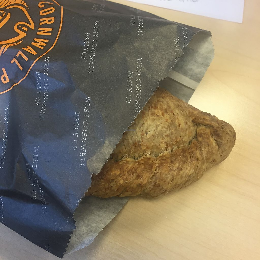 """Photo of West Cornwall Pasty Company  by <a href=""""/members/profile/bakeydoesntbake"""">bakeydoesntbake</a> <br/>Wheatmeal Vegetable Pasty - Suitable for vegans <br/> March 4, 2018  - <a href='/contact/abuse/image/110097/366811'>Report</a>"""
