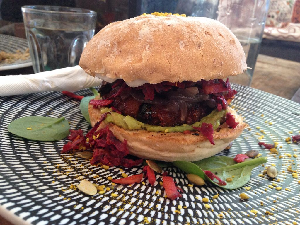 "Photo of Just Earth  by <a href=""/members/profile/Annab"">Annab</a> <br/>Vegan burger  <br/> January 26, 2018  - <a href='/contact/abuse/image/110108/351005'>Report</a>"